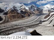 Купить «Ледник Северный Иныльчек, Тянь-Шань», фото № 2234272, снято 24 июля 2010 г. (c) Max Toporsky / Фотобанк Лори
