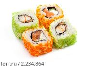 """Купить «Суши ( роллы урамаки """"Калифорния"""" ), японская кухня», фото № 2234864, снято 21 октября 2009 г. (c) ElenArt / Фотобанк Лори"""