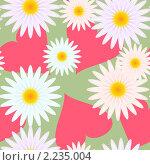 Купить «Фон с сердечками и цветами», иллюстрация № 2235004 (c) Boroda / Фотобанк Лори