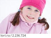 Портрет девочки зимой. Стоковое фото, фотограф Ольга Полякова / Фотобанк Лори