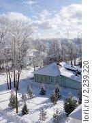 Зимний вид в городе Белозерске с высокой точки. Вологодская область (2010 год). Стоковое фото, фотограф Солодовникова Елена / Фотобанк Лори