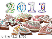 Купить «2011 из свечек и пряники», фото № 2241756, снято 23 декабря 2010 г. (c) Леонид Якутин / Фотобанк Лори