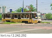 Купить «Трамвай в Ростокино», эксклюзивное фото № 2242292, снято 8 мая 2010 г. (c) Алёшина Оксана / Фотобанк Лори