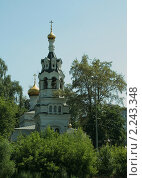 Купить «Храм Ильи Пророка в Черкизове», фото № 2243348, снято 6 июля 2010 г. (c) Андрей Бушуев / Фотобанк Лори