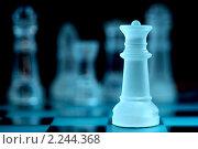 Прозрачные стеклянные шахматы. Стоковое фото, фотограф Сергей Петерман / Фотобанк Лори