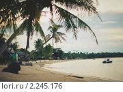 Вечер на пляже Маенам, остров Самуи, Таиланд. Стоковое фото, фотограф Роман Богдановский / Фотобанк Лори