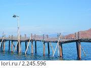 Купить «Деревянный шаткий мост», фото № 2245596, снято 27 июня 2010 г. (c) Купченко Владимир Михайлович / Фотобанк Лори