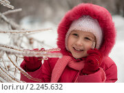 Купить «Девочка зимой», фото № 2245632, снято 26 декабря 2010 г. (c) Лена Лазарева / Фотобанк Лори