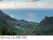 Купить «Вид сверху на поселение в Тенерифе, Канарские острова», фото № 2249332, снято 12 декабря 2009 г. (c) Алексей Зарубин / Фотобанк Лори