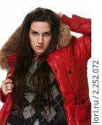Купить «Девушка в красной куртке», фото № 2252072, снято 10 декабря 2010 г. (c) Миленин Константин / Фотобанк Лори