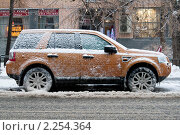 """Купить «Обледеневший """"Land Rover"""". Снег с дождем», фото № 2254364, снято 26 декабря 2010 г. (c) Сергей Лешков / Фотобанк Лори"""