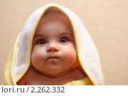 Купить «Малыш после купания», фото № 2262332, снято 5 января 2011 г. (c) Иванюшин Виталий / Фотобанк Лори