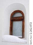 Заиндевелое окно православной часовни. Стоковое фото, фотограф Victor Spacewalker / Фотобанк Лори