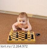 Купить «Юный шахматист решает задачу», фото № 2264972, снято 20 ноября 2018 г. (c) Иванюшин Виталий / Фотобанк Лори