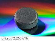 Купить «Таблетка активированного угля», фото № 2265616, снято 7 января 2011 г. (c) Валерий Александрович / Фотобанк Лори