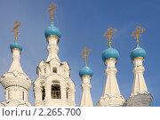 Купить «Купола храма Рождества Пресвятой Богородицы в Путинках. Москва», фото № 2265700, снято 6 января 2011 г. (c) Валерия Попова / Фотобанк Лори