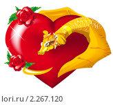 Купить «Золотой дракон обнимает сердце», иллюстрация № 2267120 (c) Алексей Григорьев / Фотобанк Лори