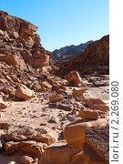 Купить «Цветной каньон. Синай. Египет», фото № 2269080, снято 8 января 2011 г. (c) Екатерина Овсянникова / Фотобанк Лори