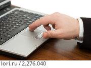 Бизнесмен с ноутбуком. Стоковое фото, фотограф Воронин Владимир Сергеевич / Фотобанк Лори