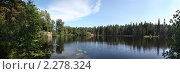 Купить «Лесное озеро. Валаам. Панорама», фото № 2278324, снято 12 августа 2010 г. (c) Евгений Батраков / Фотобанк Лори