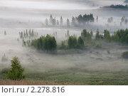 Купить «Долина реки. Туман», фото № 2278816, снято 6 июля 2010 г. (c) Александр Бобырь / Фотобанк Лори