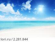 Купить «Море и песок», фото № 2281844, снято 2 ноября 2009 г. (c) Iakov Kalinin / Фотобанк Лори