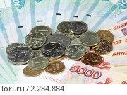 Купить «Купюры и монеты», фото № 2284884, снято 21 августа 2008 г. (c) Valeriy Novikov / Фотобанк Лори