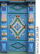 Купить «Этнографический музей народов Забайкалья. Улан-Удэ. Фрагмент резных ворот», фото № 2290684, снято 21 сентября 2010 г. (c) Анна Зеленская / Фотобанк Лори