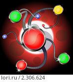 Абстрактный фон - кнопки, связанные между собой. Стоковая иллюстрация, иллюстратор Mihhail Fainstein / Фотобанк Лори