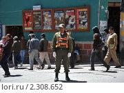 Купить «Полицейский на улице города», фото № 2308652, снято 8 сентября 2010 г. (c) Free Wind / Фотобанк Лори