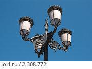 Купить «Фрагмент фонаря около королевского дворца в Мадриде», фото № 2308772, снято 21 июня 2009 г. (c) Elena Monakhova / Фотобанк Лори