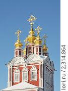 Купить «Новодевичий монастырь. Надвратная Преображенская церковь. Москва», эксклюзивное фото № 2314864, снято 31 января 2011 г. (c) stargal / Фотобанк Лори