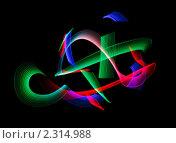 Купить «Абстрактный фон  -рисование светом», фото № 2314988, снято 26 декабря 2009 г. (c) Losevsky Pavel / Фотобанк Лори