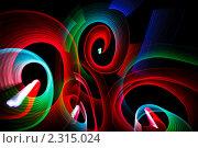 Купить «Абстрактный фон  -рисование светом», фото № 2315024, снято 27 декабря 2009 г. (c) Losevsky Pavel / Фотобанк Лори