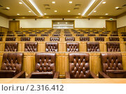 Купить «Конференц-зал с великолепными кожаными креслами», фото № 2316412, снято 26 ноября 2009 г. (c) Losevsky Pavel / Фотобанк Лори