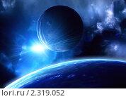 Купить «Вспышка в космосе», иллюстрация № 2319052 (c) Лукиянова Наталья / Фотобанк Лори