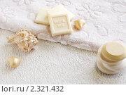 Мыло в наборе для ванной, бани или спа-процедур. Стоковое фото, фотограф Татьяна Емшанова / Фотобанк Лори