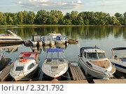Лодки у причала. Стоковое фото, фотограф Сайфутдинов Ильгиз / Фотобанк Лори