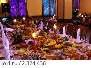 Купить «Сервированный стол в интерьере ресторана», фото № 2324436, снято 13 января 2011 г. (c) Татьяна Белова / Фотобанк Лори