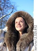 Зимний портрет. Стоковое фото, фотограф Людмила Травина / Фотобанк Лори