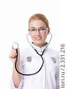 Купить «Доктор с фонендоскопом», фото № 2331216, снято 8 декабря 2010 г. (c) Raev Denis / Фотобанк Лори