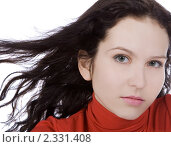 Портрет красивой брюнетки. Стоковое фото, фотограф Курганов Александр / Фотобанк Лори