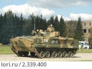 Купить «Боевая машина пехоты БМП-3 на полигоне в Кубинке», фото № 2339400, снято 12 сентября 2003 г. (c) Малышев Андрей / Фотобанк Лори