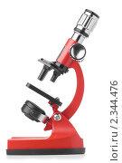Купить «Красный микроскоп», фото № 2344476, снято 13 июля 2018 г. (c) Сергей Петерман / Фотобанк Лори