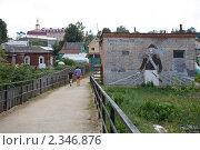Купить «Рисунки на зданиях. Город Боровск», эксклюзивное фото № 2346876, снято 30 июля 2010 г. (c) Яна Королёва / Фотобанк Лори