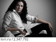 Портрет красивой девушки. Стоковое фото, фотограф Зуйкова Ольга Васильевна / Фотобанк Лори