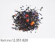 Черный чай с ароматическими добавками. Стоковое фото, фотограф Абушкина Мария / Фотобанк Лори