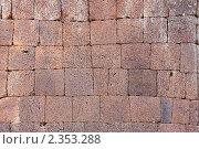 Древняя кладка стены из обработанного камня. Стоковое фото, фотограф Александр Гавриченко / Фотобанк Лори