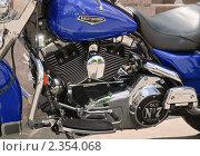Фрагмент мотоцикла Harley Davidson (2010 год). Редакционное фото, фотограф Алёшина Оксана / Фотобанк Лори