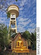 Таиланд, Бангкок. Буддийский храм (Wat Bowonniwet), Будда (2011 год). Стоковое фото, фотограф Валентина Качалова / Фотобанк Лори